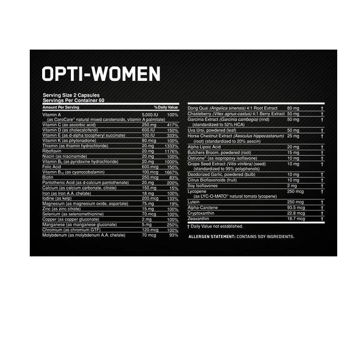 Optimum Nutrition Opti-W Daily Multi-Vitamin