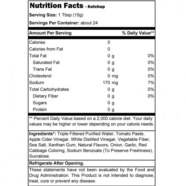 קטשופ ללא שומן וללא גלוטן, דל קלוריות ועשיר בטעם