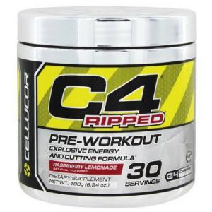 C4 Ripped מכיל תערובת אנרגיה מסייע להורדה במשקל ושמירה על שריר
