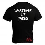5% Nutrition Apparel Love It Kill It / WIT Men's T-Shirt Black/White