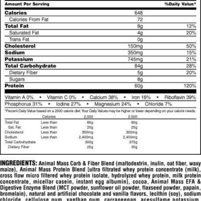 מאס גיינר מכילה תשלובת איכותית של חלבונים בתוספת חומצות אמינו וויטמינים