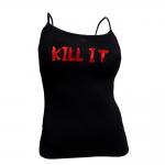 5% Nutrition Apparel Kill It Women's Spaghetti Strap Tank Top Black/Red