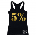 5% Nutrition Apparel Love It Kill It / 5%Er For Life Women's Tank Black/Gold