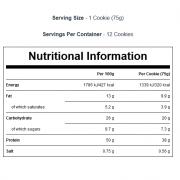 עוגייה מכילה 38 גרם של חלבון כדי לעזור ולסייע לגדילת מסת השריר ותחזוק מסת השריר