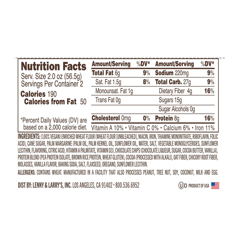 עוגיות חלבון טבעוניות - 8 גרם חלבון ליחידה