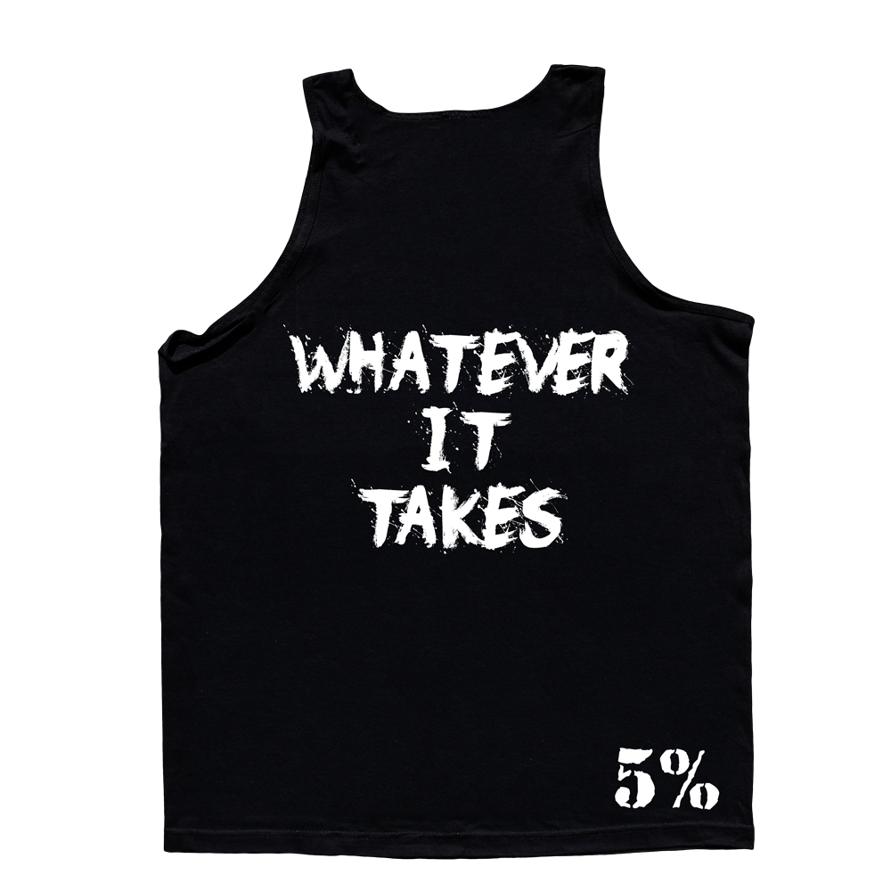 5% Nutrition Love It Kill It, It/WIT Men's Tank Top Black/White