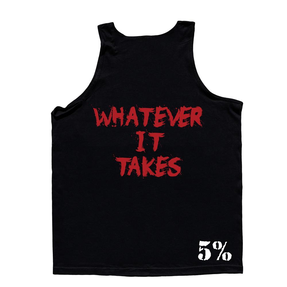 5% Nutrition Apparel Love It Kill It / WIT Men's Tank Top Black/Red