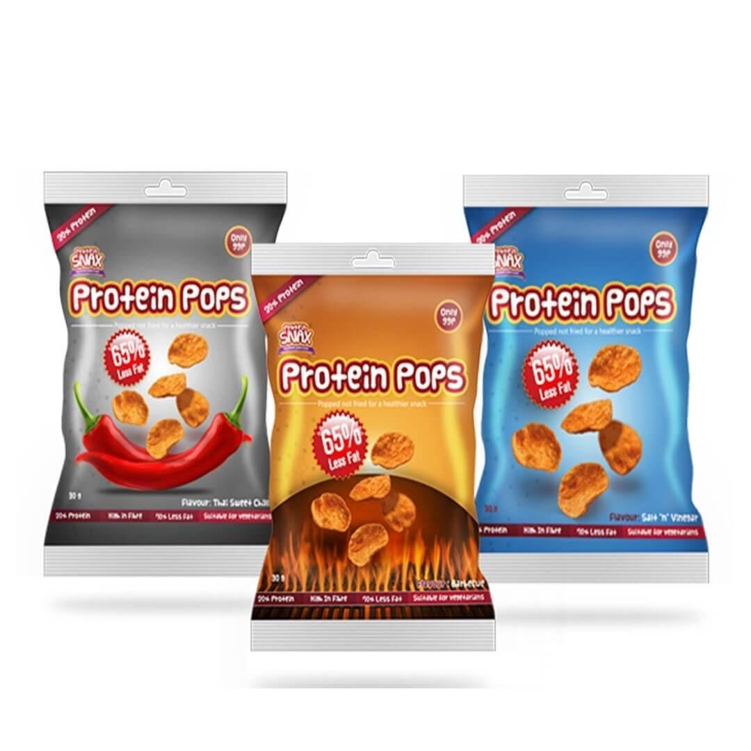 חטיפי צ'יפס צמחוניים - 10.5 גרם חלבון לחטיף